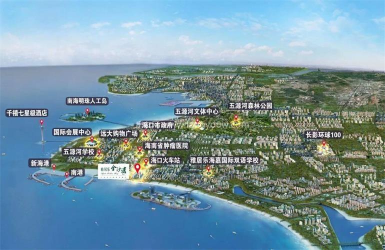 雅居乐金沙湾 区位图